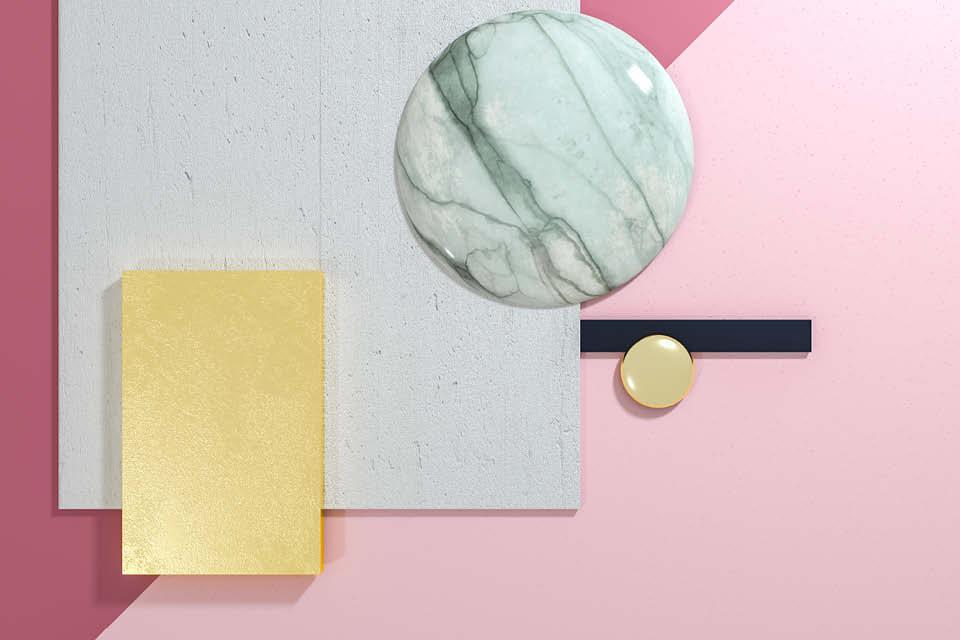 Welche Farbe? Welches Material? Bei der Wohnraumgestaltung ist vieles zu beachten. Dabei hilft es, wenn man Muster zu einer Collage zusammen stellt, um sich besser entscheiden zu können.
