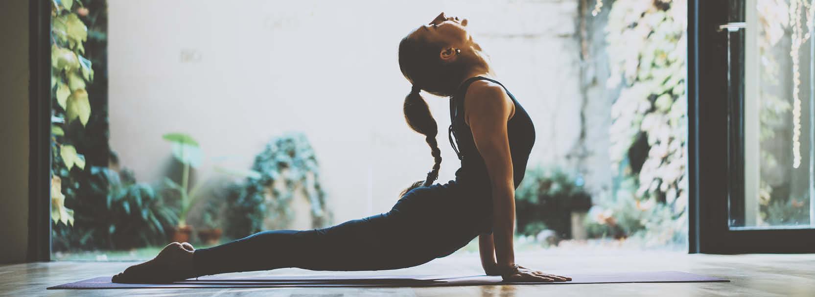 Yoga-Platz zuhause
