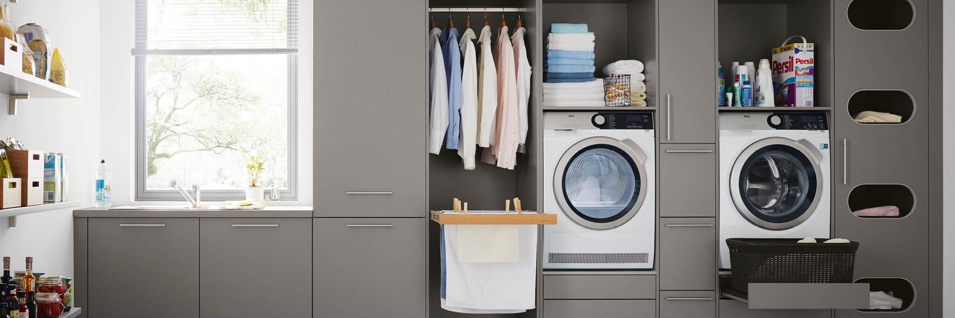 herzensangelegenheit der hauswirtschaftsraum. Black Bedroom Furniture Sets. Home Design Ideas