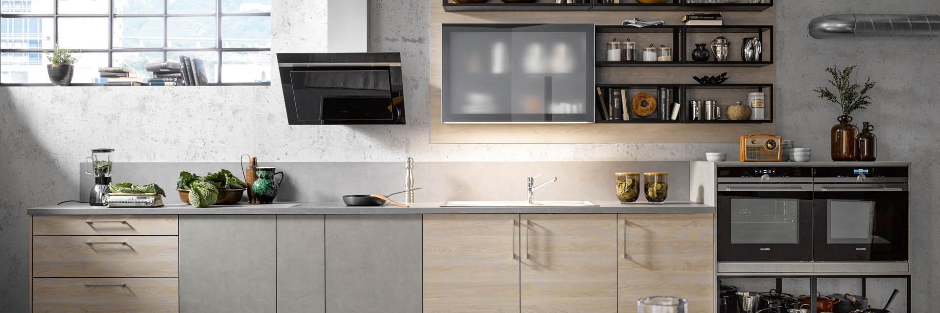 Ganz pur, ganz Loft - der neue Industrial-Stil der Küche