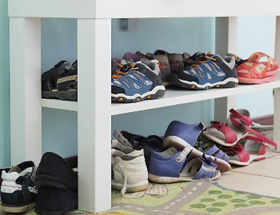 Kindgerechtes Wohnen Schuhregal
