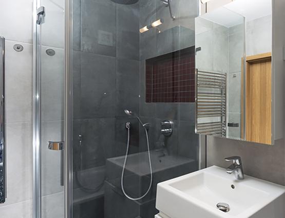 Kleine Wohnung Groß Einrichten Dusche Bad Spiegel