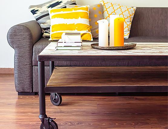 Kleine Wohnung Stauraumlösung Möbel Rollen