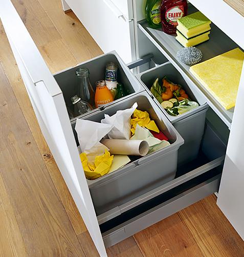 Planung Küche Lösung Müll