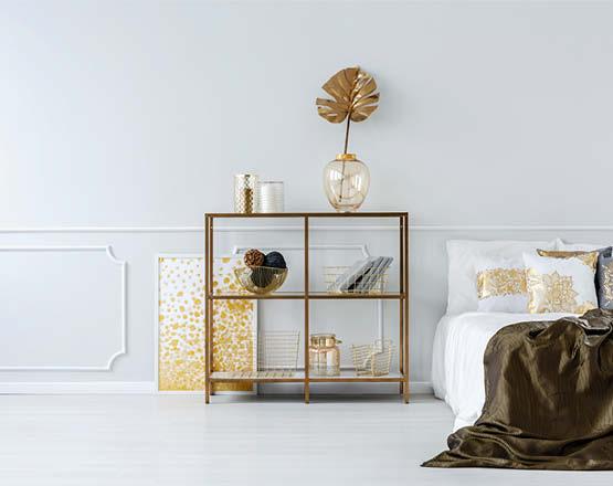 wandfarbe gold kombinieren
