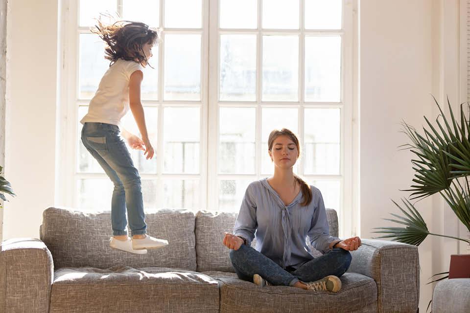 Turnen Sie zu Hause rum und toben Sie sich aus - Yoga - Pilates - Workout