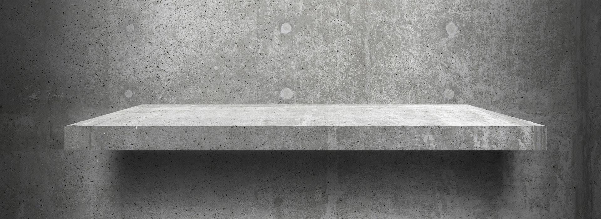 Beton Bank Beton Podest grau marmoriert