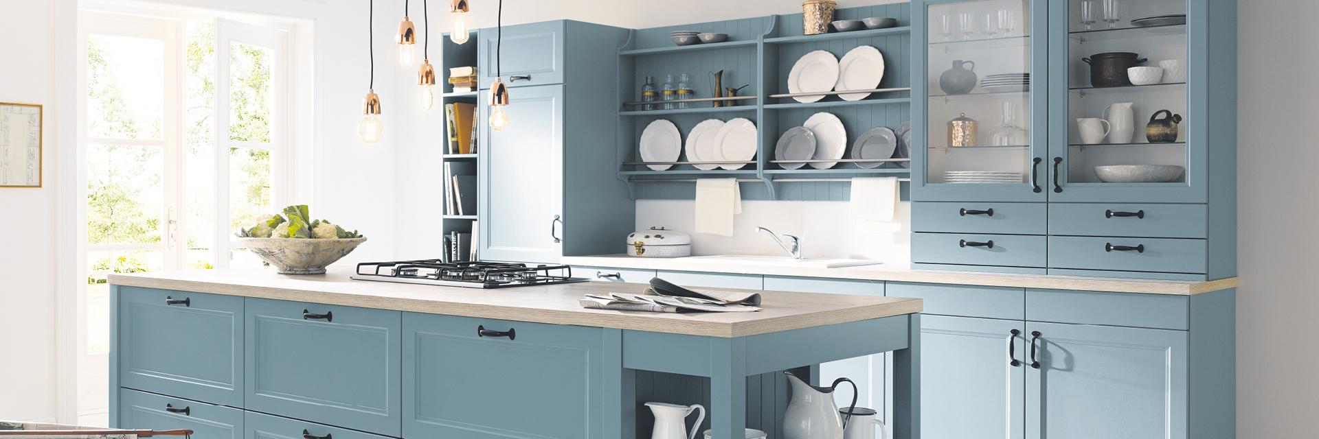 Küche mit Gasherd, Kochen mit Gas, Contur Küche