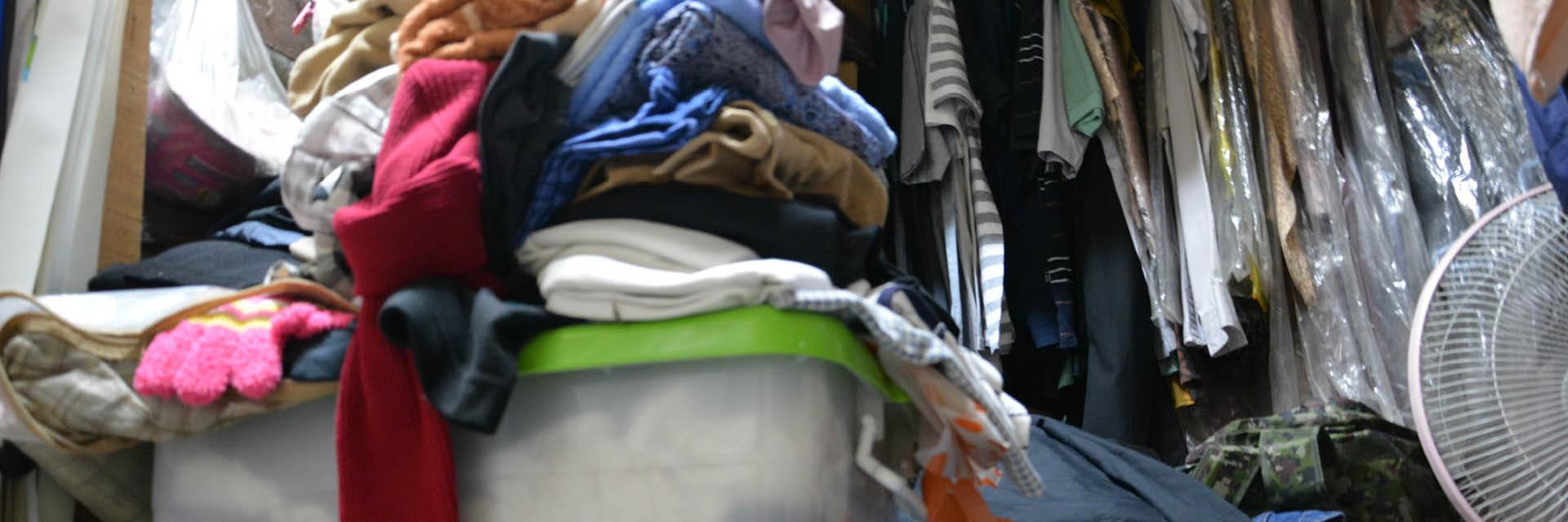 Kleiderschrank, Ordnung schaffen