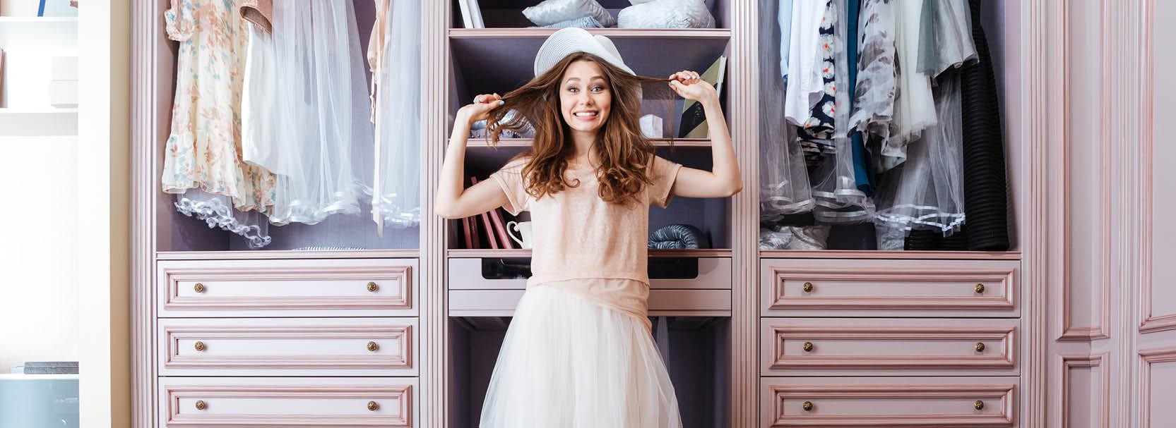 kombinierbarer Kleiderschrank, Ordnung im Kleiderschrank