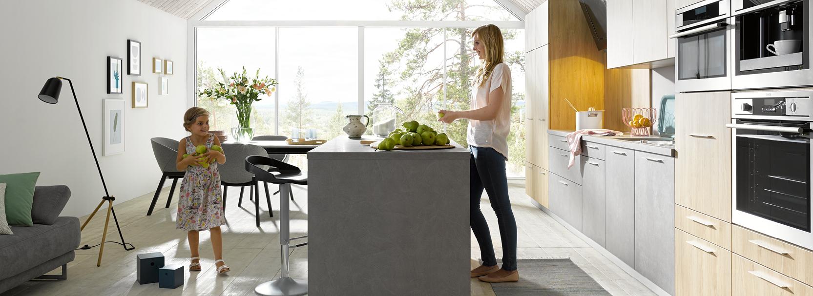 Küche, Beton