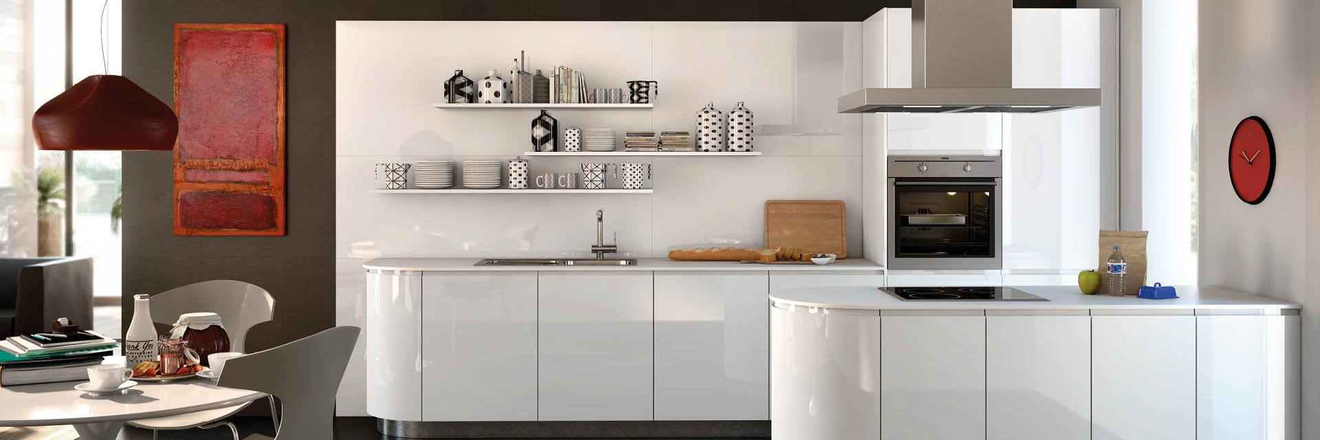 Moderne, runde Küchen