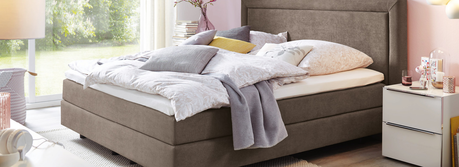 Global Family Boxspringbett Leder