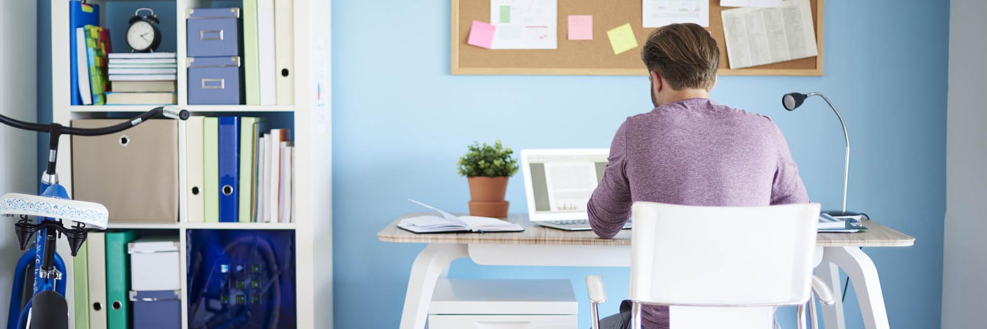 Home Office, zu Hause Arbeiten