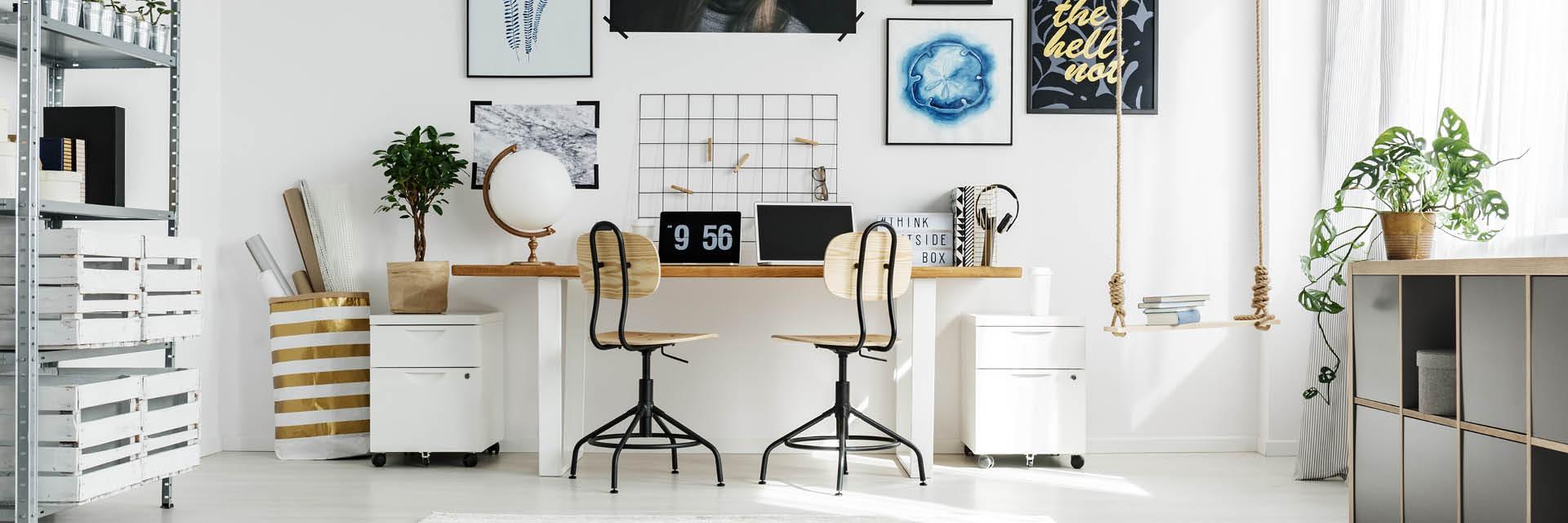 Büro, Arbeitszimmer richtig eingerichtet