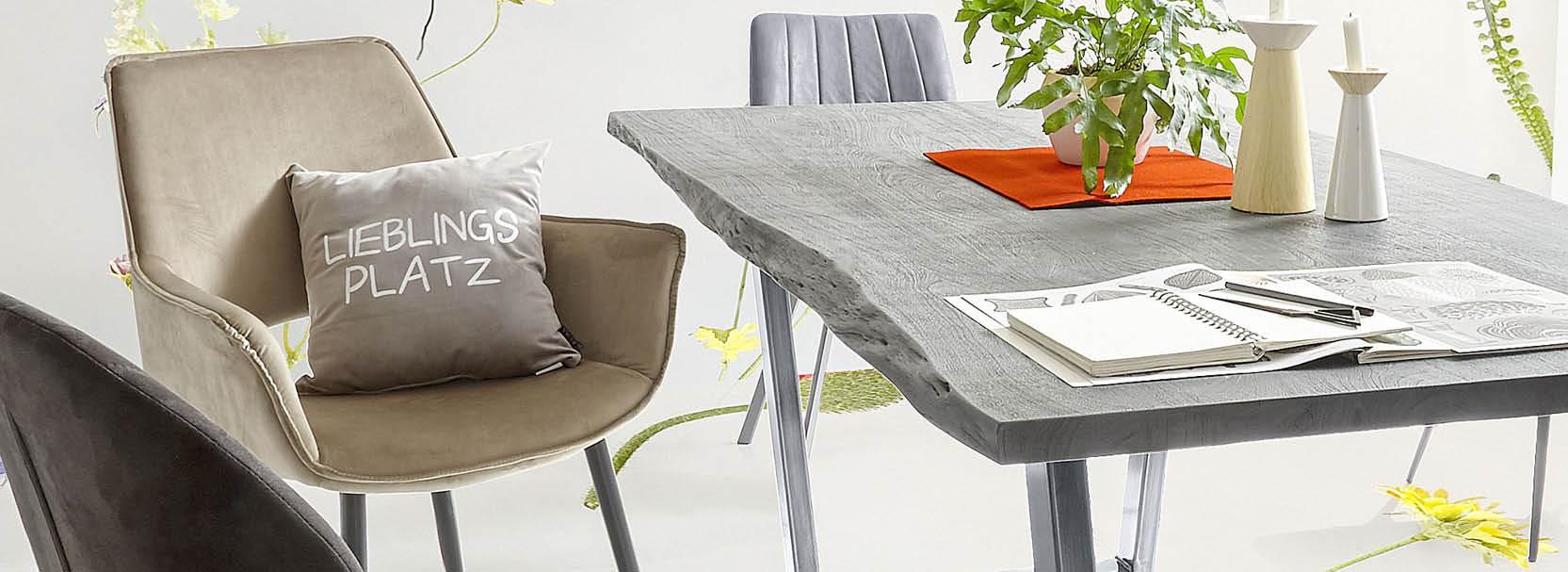 Alle an den Tisch zu bekommen, ist kein Problem. Daher sind Möbel fürs Esszimmer für den schwierigeren Teil entwickelt worden – das Sitzenbleiben.